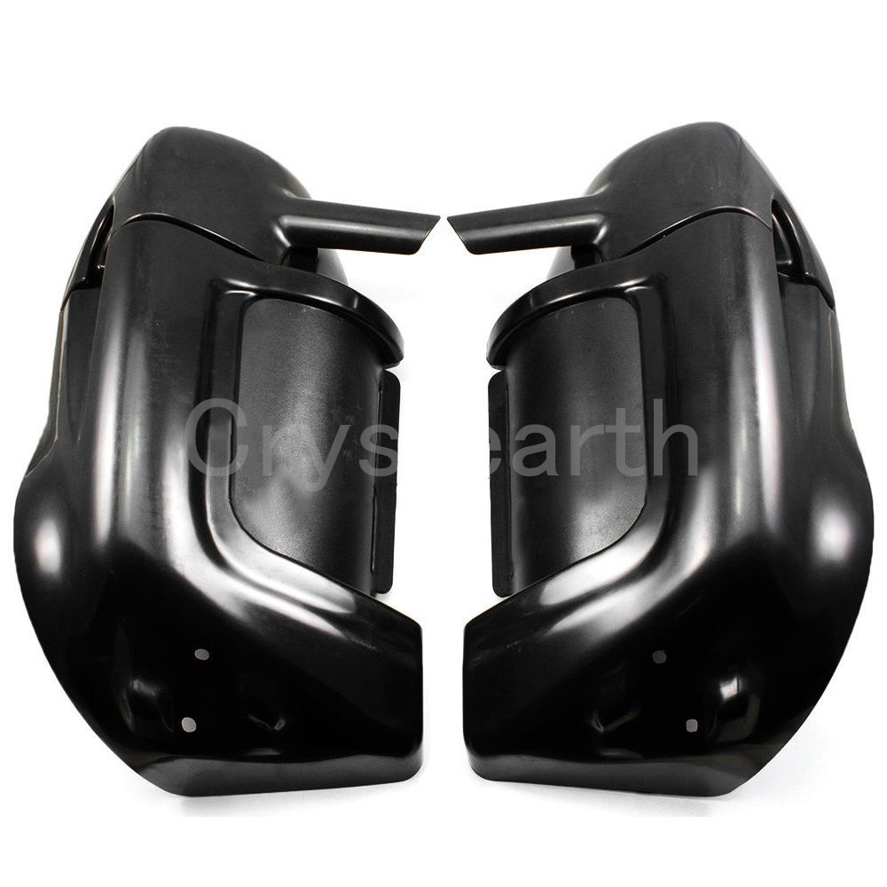Motorcycle Painted Black Lower Vented Leg Fairing Glove Box Hardware Kit For Harley Touring Road King Street Glide Electra Glide 6 1 2 6 5 audio speakers w glove box for harley touring electra street glide flt flht flhx flhtcu flhrc vented lower fairing