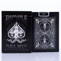 New Ellusionist Black Ghost Deck Bicycle Second Edition Playing Cards Magic Tricks Magic Poker Card Magic