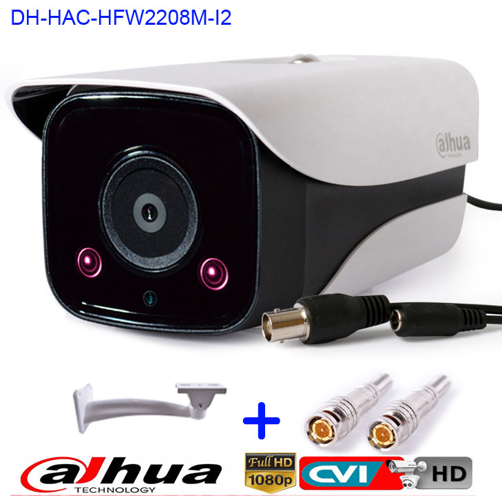 Newest HD 1080P Dahua HDCVI Camera 2MP DH-HAC-HFW2208M-I2 Network IR Bullet Security Camera CCTV IR distance 80m HAC-HFW2208M-I2 dahua hdcvi 1080p bullet camera 1 2 72megapixel cmos 1080p ir 80m ip67 hac hfw1200d security camera dh hac hfw1200d camera