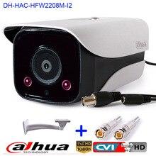 Newest HD 1080P Dahua HDCVI Camera 2MP DH-HAC-HFW2208M-I2 Network IR Bullet Security Camera CCTV IR distance 80m HAC-HFW2208M-I2