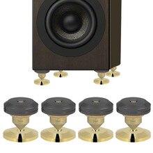4 unids/set altavoz aislamiento picos pie HiFi altavoz AMP CD cono cojín de base 28x25mm