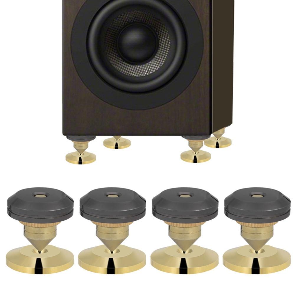 4Pcs/set Speaker Isolation Spikes Stand Feet HiFi Speaker AMP CD Cone Base Pads 28x25mm