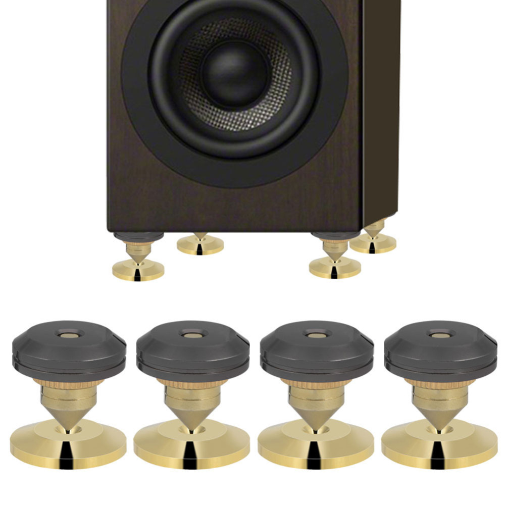 16x Spike Cone /& 16x Gold Pad Base Isolation Improved Sound Kit Audio Speaker G
