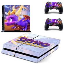 Spyro PS4 Skin Sticker Decal Vinyl for Sony Playstation 4 Console and 2 Controllers PS4 Skins Kit