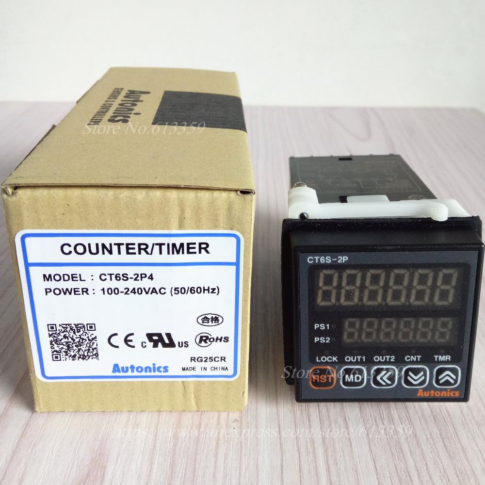 CT6S 2P4 100 New Original Genuine Multifunctional Timer Counter 100 240VAC 50 60Hz