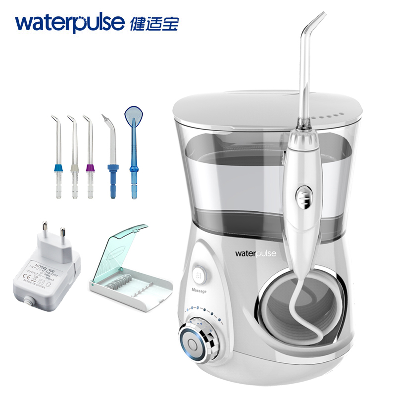 Schönheit & Gesundheit Neueste Kollektion Von Waterpulse V660 Pro Munddusche 12 Druck Floss Und Massage Dental Wasser Elektrische Flosser Irrigator Oral Wasser Zahnseide