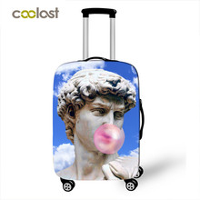 David Michelangelo Statue Chew Bubble Gum Luggage Cover Travel Accessories Elastic Trolley Case Cover Anti-dust Suitcase Covers