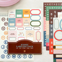Korea ICONIC Labeling Pack Office Sticker,Daily Planner Stickers Also