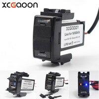 XCGaoon Spezielle Dedizierte 5 V 2.1A Auto Usb-schnittstelle Buchse Ladegerät Adapter und USB Audio-eingangsbuchse für NISSAN