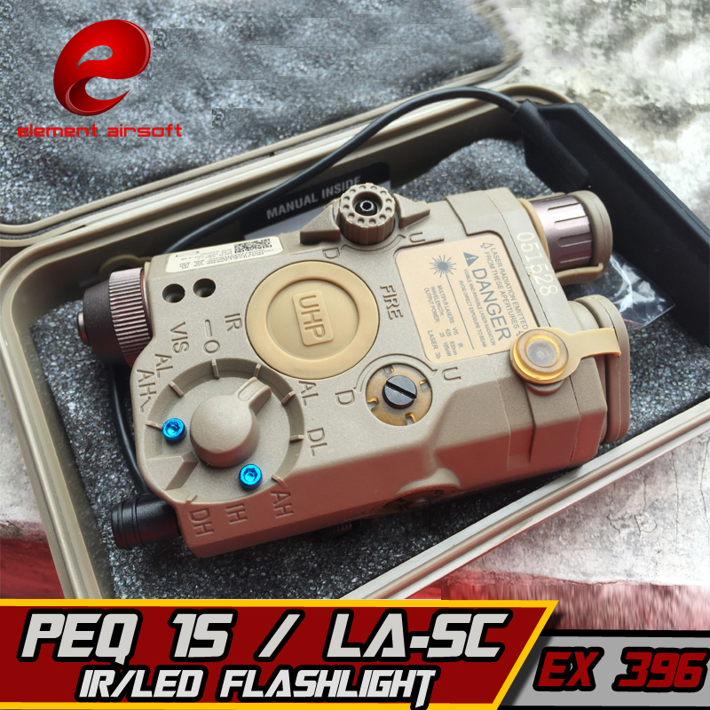 Element PEQ-IS LA-SC UHP APPEARANCE VER Battery Case with Red Laser IR Lens LED Flashlight Airsoft Laser for Shooting Game EX396 wipson lanterna airsoft led light tactical kit includes la 5 peq 15