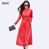 The Latest Woman Jacket Meather Plus A Long Fashion Coat 2017 Fall Ladies Self Cultivation Outfit