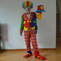 Halloween Costumes Masquerade Magician Clown Clothes Suit Tuxedo Dress Clown Circus Clown Costume Men S Clothing