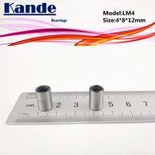 Kande – roulements linéaires LM4UU, 4x8x12mm, 10 pièces, LM4UU
