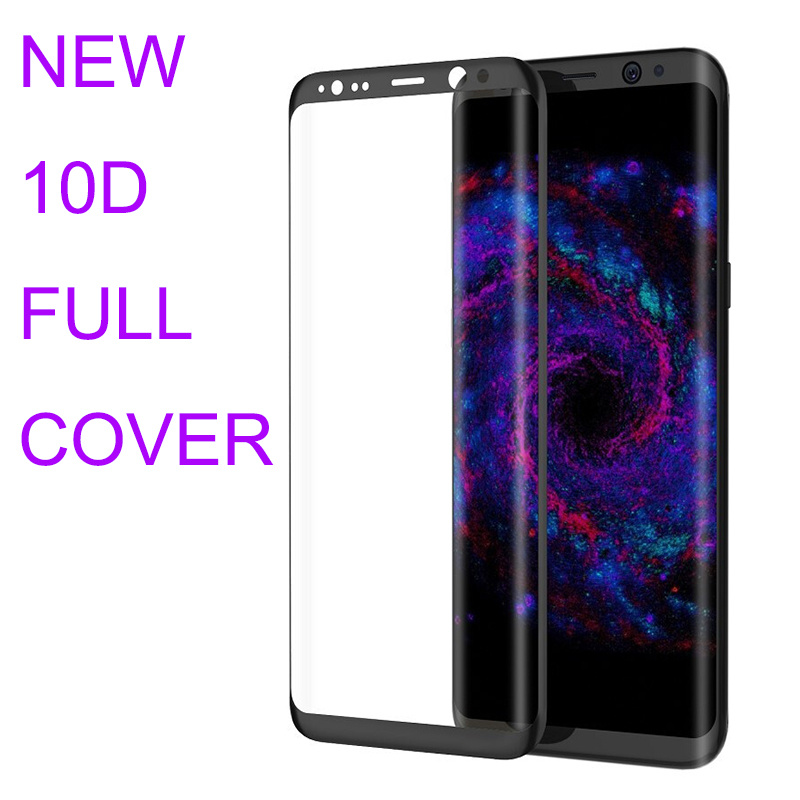 10D Full Cover Tempered Glass for Samsung Galaxy S8 Glass Protector for Samsung Note 8 S9 Plus Glass Screen Protector Cover Film