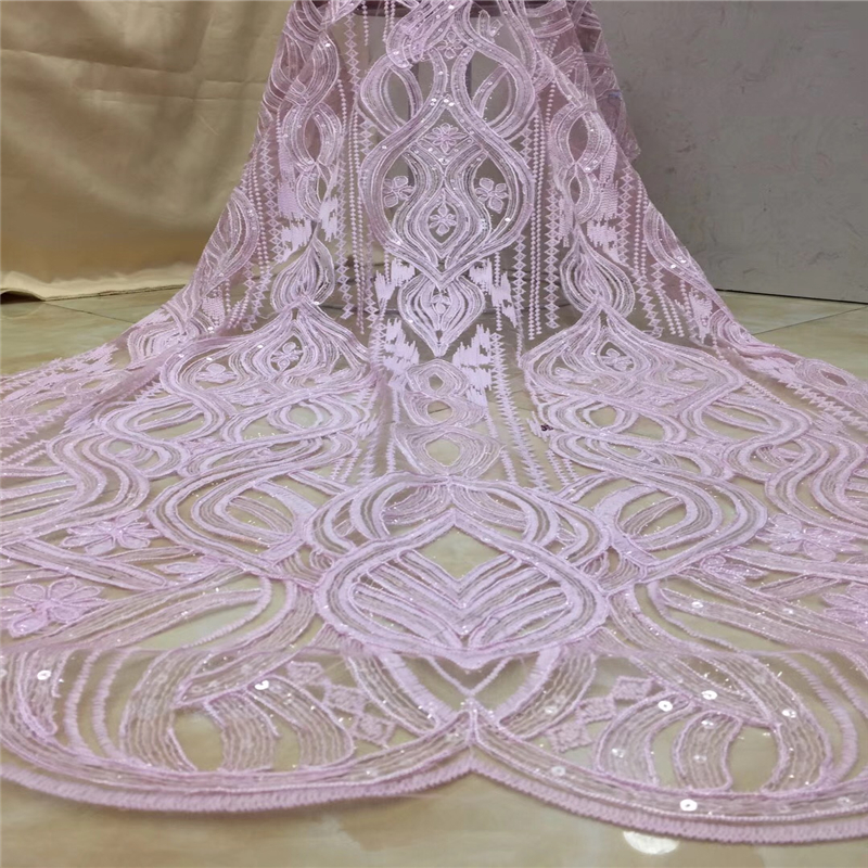 VILLIEA 2018 Latest French Nigerian Laces Fabrics High Quality Tulle African Laces Fabric Wedding African French