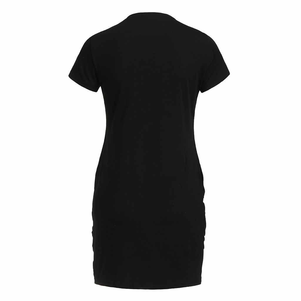 ... Hot Sale Ladies Casual Love Heart Pattern Flag Print Dress Short Sleeve  Split Mini Dress Summer ... 5657622cedcb
