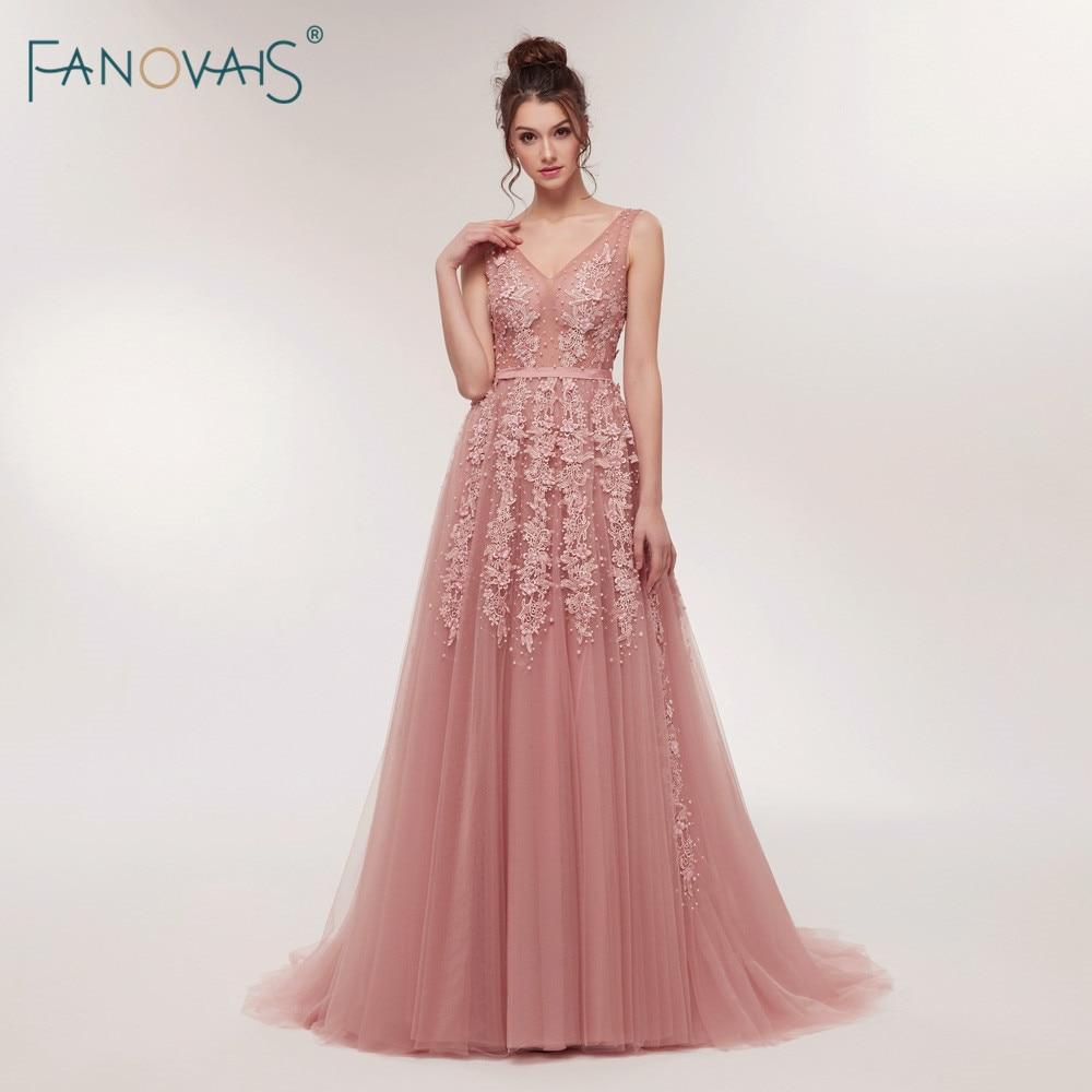 1babd4e18f Sexy Vestidos 2019 V cuello Vestidos de baile Floral de lujo con cuentas  vestido de noche para las mujeres Vestidos de Fiesta de ASAE07 en Vestidos  de noche ...