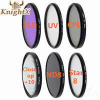 KnightX 52 55 58 67 77 mm UV ND star Lens ND slim filter uv for nikon d60 d7000 Canon 1100D 700D 650D 600D mark Lens DSLR Camera