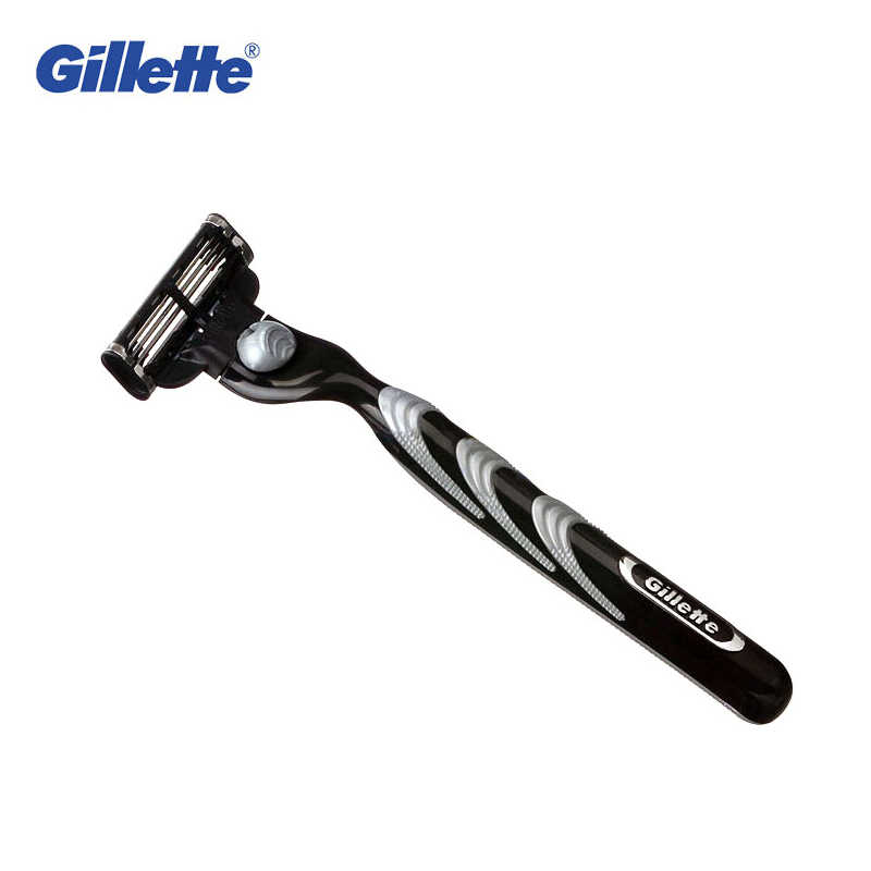 Original Gillette Mach 3 Safety Razor Shaving Razor Shaving Blades Double Edges Beard Shaver Shave 1 Razor Holder 1 Blade