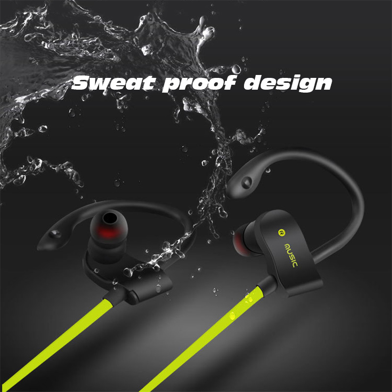 sports Bluetooth Earphone 4.1 Stereo Earbuds Wireless Headset Bass Earphones with Mic In-Ear for iPhone 7 Samsung Phone Xiaomi leory l6 wireless bluetooth earphone sports heavy bass v4 0 edr earphones with mic wireless headset ear hook universal 4 colors