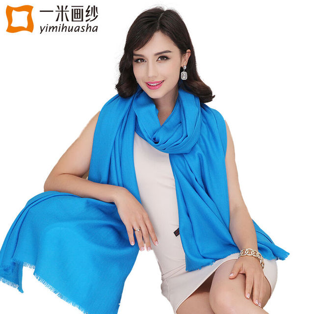 2016 High quality Herringbon pure wool ladies winter scarves solid color shawls and wraps large foulards femme oversize 240*95cm