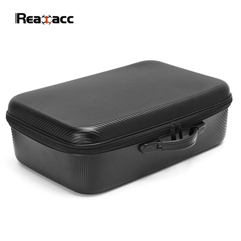 Realacc Eachine Wizard X220S Racing Drone PVC Handbag Backpack Bag Suitcase Box Carrying Case with Sponge original realacc waterproof portable storage box carrying case bag suitcase for zerotech dobby rc quadcopter black