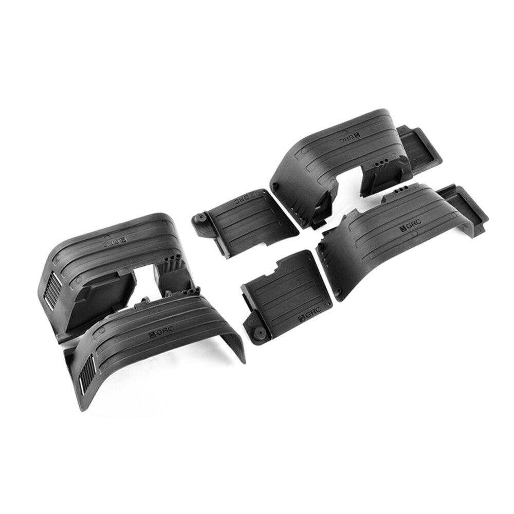 INJORA de plástico negro delantera y trasera guardabarros para 1/10 RC Crawler Axial SCX10 II 90046, 90047