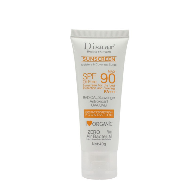 Facial Sunscreen Cream Beauty Skin Care SPF 90 Oil Free Radical Scavenger Anti Oxidant UVA/UVB 40g Britening Anti Sun Day Cream