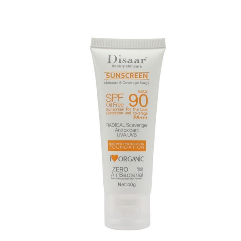 Facial Sunscreen Cream Beauty Skin Care SPF 90 Oil Free Radical Scavenger Anti Oxidant UVA/UVB 40g Britening Anti Sun Day Cream
