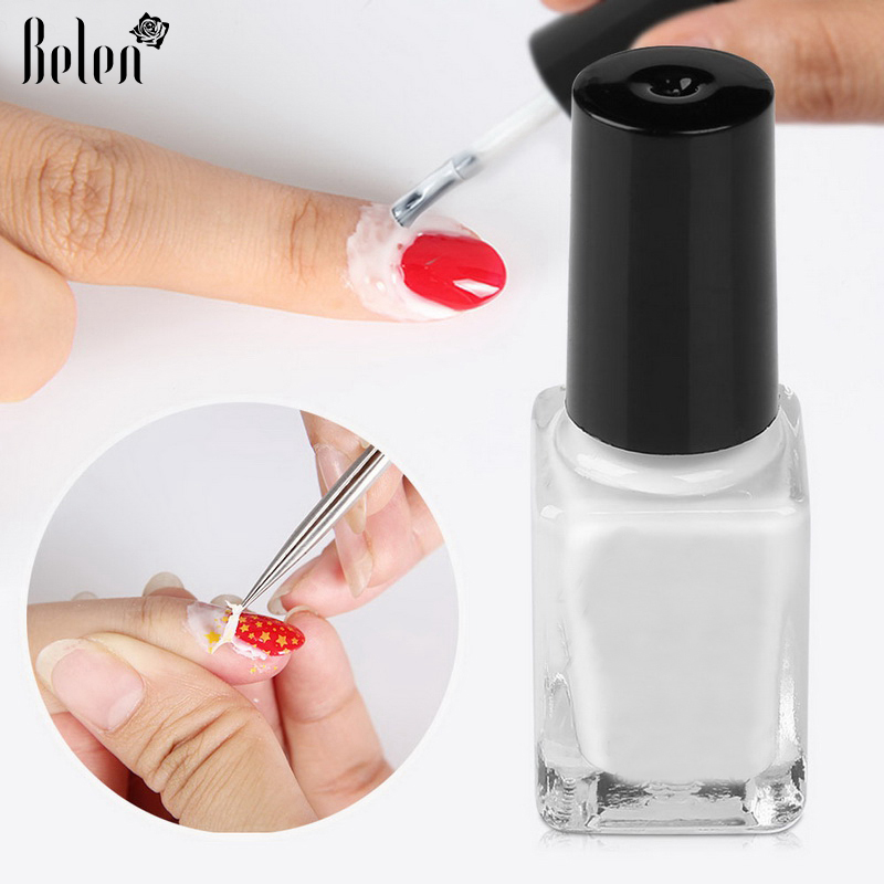 Us 1 19 20 Off Peel Off Liquid Tape From Nail Polish Protection Finger Skin Cream White Latex Protected Glue Easy Clean Tape Cream Nail Polish In
