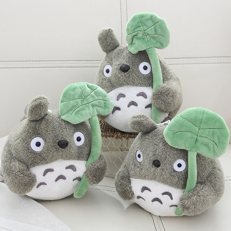 20 Cm Cartoon Movie Soft TOTORO Plush Toy Soft Stuffed Lotus Leaf   Totoro  Toy For Fans