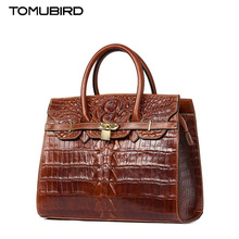 TOMUBIRD new Superior cowhide leather Embossing crocodile famous brand women bag fashion genuine leather handbags Tote bag
