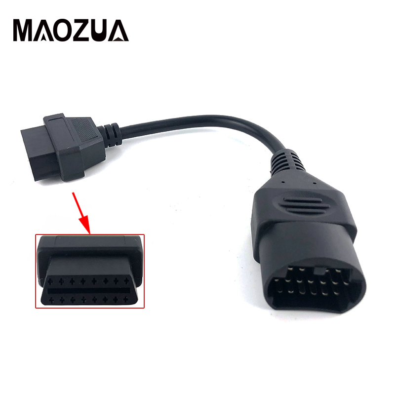 For MAZDA 17 Pin 17Pin Male To OBD OBD2 OBDII DLC 16 Pin 16Pin Female Car Diagnostic Tool Adapter Converter Cable
