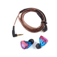 KZ ZST Pro Earphones With Mic Armature Dual Driver Earphone Detachable Cable In Ear Noise Isolating