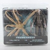 NECA Alien Prometheus Figure Ttrilobite VS Engineer Battle Damaged Ver Toys 7 18cm