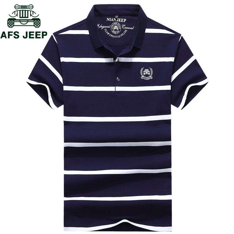 2018 Summer Brand Striped   Polo   Shirt men Cotton Short Sleeve   polo   homme High Quality Business men   Polo   Shirts Plus Size L-4XL