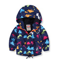Kids Clothes Brand Waterproof Boys Autumn Spring Coat Printing Dinosaur Jackets Hooded Jacket for boy Outwear Toddler 2017