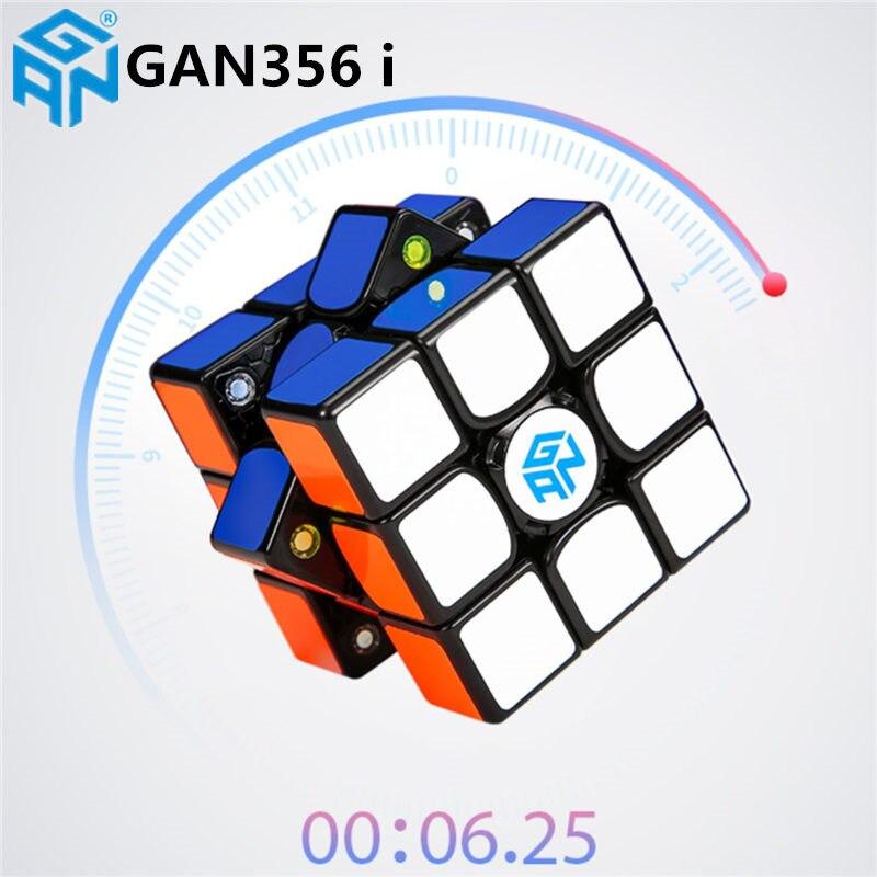 Nouveau GAN356 i magnétique magique vitesse Cube professionnel sans bâton gan356i aimants en ligne compétition Cubes GAN 356 i Cubo Magico - 2