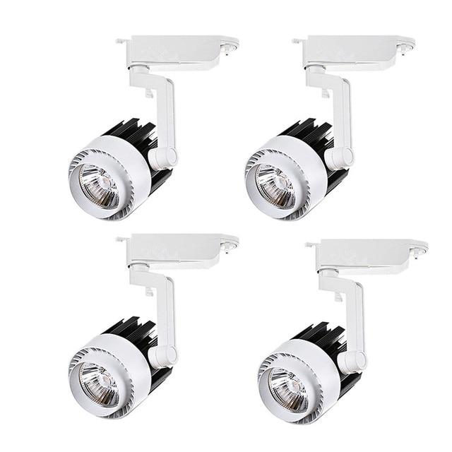 4pcs/lot 20W 30W COB LED Track Light aluminum Ceiling Rail Spot lights For Clothes Shop Shoes Store Track Rail Lighting