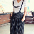 2016 New Polka Dot Print Maternity Clothing Suit Shortsleeve White Tshirt+Pregnant Women Overalls Belly Trousers For Pregnancy