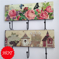 Bathroom Kitchen Towel Hat Coat Clothes Door Wall Aluminum Hanger Hooks Rack Wooden Wall Hook Free Shipping