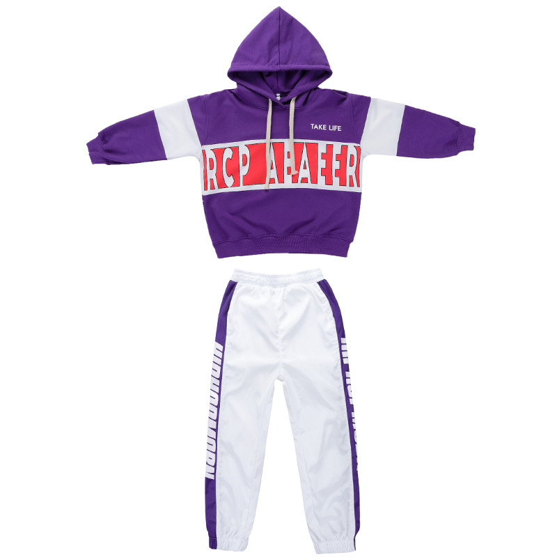 Image 4 - Baby Girls clothes 2 Piece Set Spring Autumn 2019 kids hip hop dance children costume  Sport Suits Dance Costumes girls outfitsClothing Sets   -