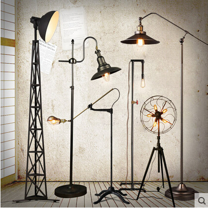 Loft Country Industry Vintage Floor Lamps With Edison Bulbs Living Room Light Fixtures L 259