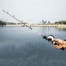 ROSEWOOD Fishing Rod 60cm 80cm Ice Fishing Pole Spinning / Casting Handle Winter Ice Rod Solid Mini Fishing Rod Fishing Tackle