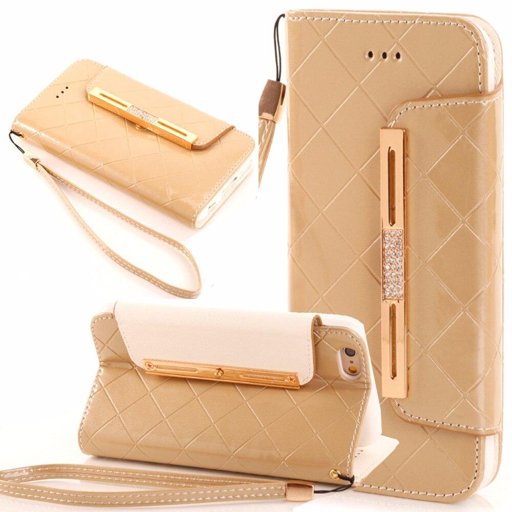 bilder für Leder Flip Telefonkasten Für iPhone 6 6 S 7 Plus 5 S SE Für Samsung Galaxy S8 Plus S6 S7 Kante Anmerkung 4 Anmerkung 5 Brieftasche Karte Telefon Taschen