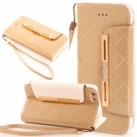 Leather Cases For APPLE IPHONE 7 PLUS 6S PLUS I5 5S SE Fashion Wallet Flip PU