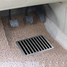 23,5X16 см универсальные напольные коврики из нержавеющей стали для автомобиля накладные пяточный башмак Педали колодки ~ 9×6