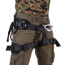 Cinturón de seguridad de asiento profesional, arnés de busto para escalada en roca, rappel, alpinismo, rescate