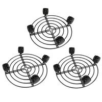 3PCS Black Plant Trolley Caddy Wheels Stand for Moving Heavy Pots