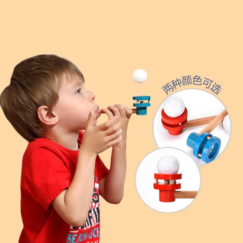 Fun Floating Ball Suspension Small Blowing Ball Wooden Toy Outdoor Funny Sports Creative Tube Balance Children's Educational Toy